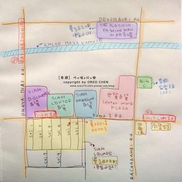 曼谷手繪地圖